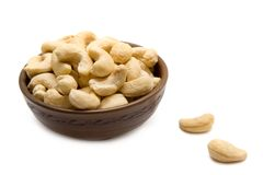 Cashew  nuts in the bowl Stock Image