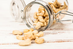 Cashew nuts closeup photo Stock Photography
