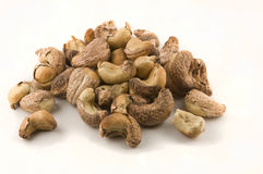 Cashew nuts, cluster. Picture of a Cluster of roasted cashew nuts royalty free stock photography