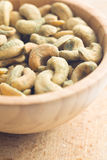 Cashew nuts coated wasabi Royalty Free Stock Photography