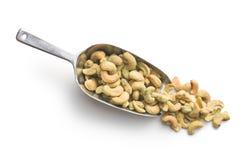 Cashew nuts coated wasabi Stock Photography