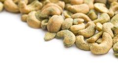 Cashew nuts coated wasabi Royalty Free Stock Image