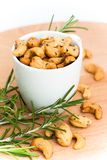 Cashew nuts and herbs Stock Image