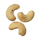 Cashew nuts isolated on white background Royalty Free Stock Photo