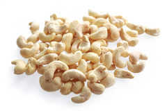 Cashew nuts. Isolated on white background royalty free stock images