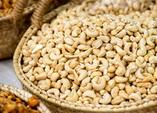 Cashew Nuts On The Market Stock Photo