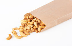 Cashew nuts in package Royalty Free Stock Images