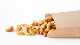 Cashew nuts in package Royalty Free Stock Photos