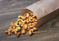 Cashew nuts in package Stock Photography