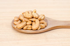 Cashew nuts with salt Royalty Free Stock Photos