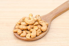 Cashew nuts with salt Stock Images