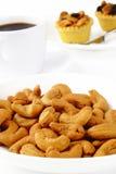 Cashew nuts and tart Stock Photo