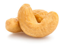 Cashew nuts. On white background Stock Images