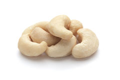 Cashew nuts. On white background (isolated Royalty Free Stock Photo
