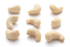 Cashew nuts. On white background (isolated Royalty Free Stock Image