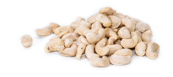 Cashew Nuts on white Royalty Free Stock Image
