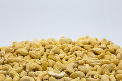 Cashew nuts on white Stock Photo