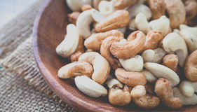 Cashew nuts. The World's Healthiest Foods royalty free stock photo