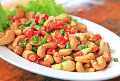 Cashew salad Royalty Free Stock Images