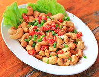 Cashew salad Royalty Free Stock Photography