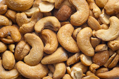 Cashew Salted. Textured Background of Salted Cashew Stock Photos