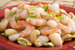 Cashew Shrimp Royalty Free Stock Photography