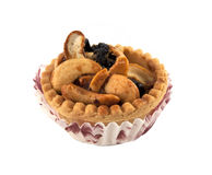 Cashew Tart. On a white background Royalty Free Stock Images