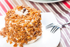 Cashew toffee nut cake Stock Photos