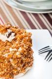 Cashew toffee nut cake Royalty Free Stock Photo