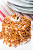 Cashew toffee nut cake Royalty Free Stock Photography