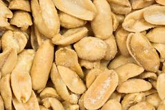 Cashews. Detailed closeup of salted cashew nuts. The nuts fill the entire frame Royalty Free Stock Photo