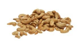 Cashews. Pile of cashews Royalty Free Stock Photo