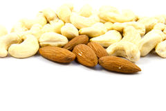 Cashews and almonds Stock Photography