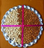 Cashews and almonds stock photo