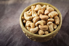Cashews in a bowl Royalty Free Stock Image