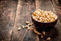 Cashews in a bowl. Royalty Free Stock Photos