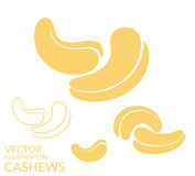 Cashews. Icon set Stock Image