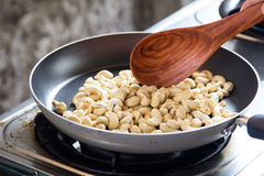 Cashews in pan Stock Photography