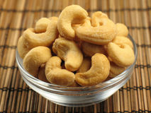 Cashews in a Small Bowl Royalty Free Stock Photography