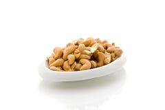 Cashews on white isolated background Royalty Free Stock Image