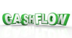 Cashflow 3d uttrycker förtjänster för pengar för inkomstintäktström Arkivfoto