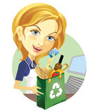Cashier. Handing the credit card Royalty Free Stock Image
