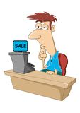 Cashier Royalty Free Stock Photography