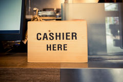 Cashier counter Stock Images