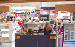 At the Cashier Desk Royalty Free Stock Image