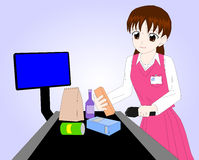 Cashier Girl / Lady Royalty Free Stock Photo