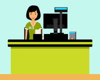 Cashier Royalty Free Stock Images