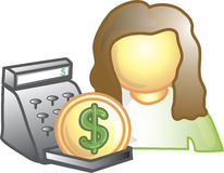 Cashier Icon Stock Image