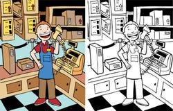 Cashier Man Stock Image