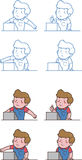 Cashier man. Illustration of a man working as cashier Royalty Free Stock Photo